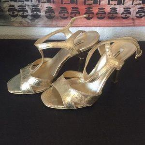 MOVING SALE! EUC Miu Miu gold heels